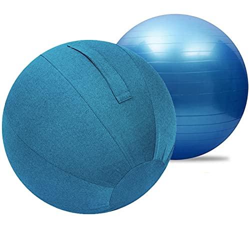 Yoga Ball Fitnessball mit Pumpa,Dicker Anti-Burst Gymnastikball Sitzball Trainingsball Inkl....