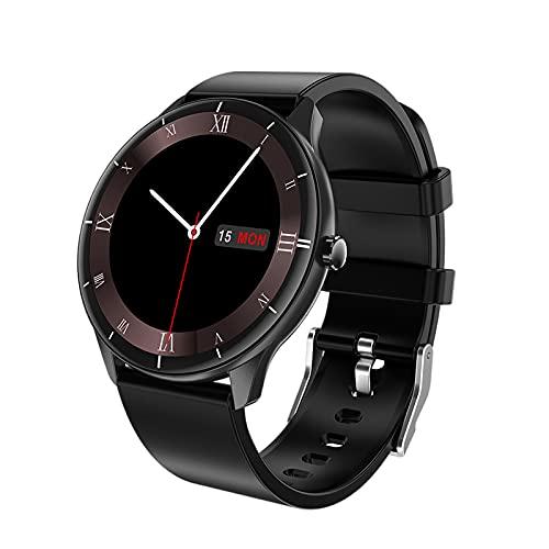MERIGLARE Sport Round Smartwatch 1,28 Zoll Bluetooth Anruf Körpertemperatur - Schwarz