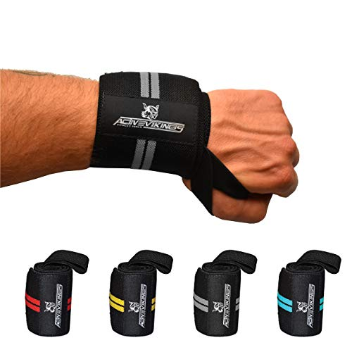 ActiveVikings® Handgelenk Bandagen - Ideale Handgelenkbandagen für Fitness, Crossfit, Bodybuilding...