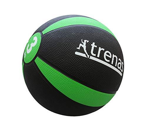 trenas Gummimedizinball PRO - Der professionelle Medizinball - 3 KG