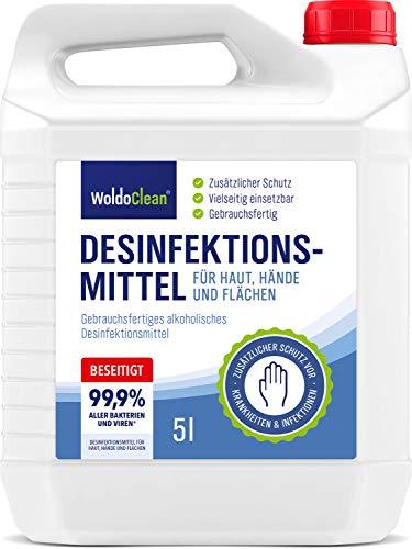Desinfektionsmittel für Haut Hände und Flächen 5 Liter Kanister - begrenzt viruzid