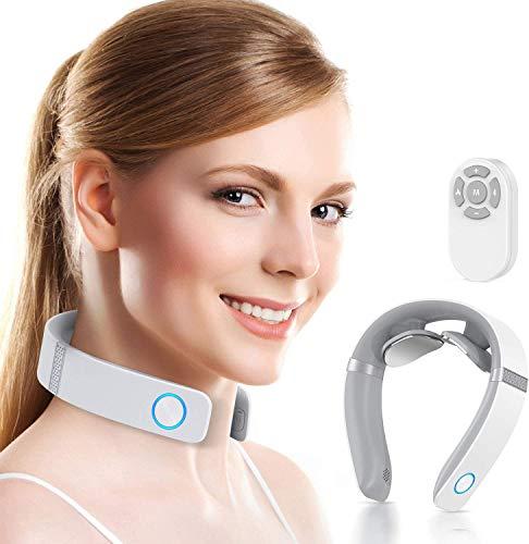 HOMIEE Nackenmassagegerät, Massagegerät mit 16 Heißkompressionsfunktion Elektrisches...