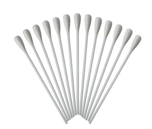 Medizinische Wattestäbchen mit großem Kopf Watteträger PE-Stab 15cm 500 Stück hygienisch...