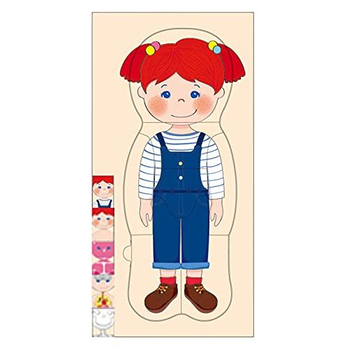 Hölzernes menschliches Körperpuzzle für Kinder und Kleinkinder, Junge Mädchen Anatomie Spielset...