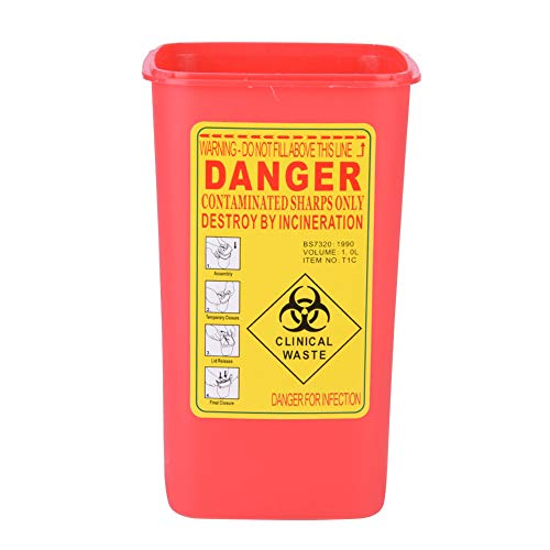 Sharps Container 1 l, praktischer, hocheffizienter Tätowiernadelbehälter, sicherer Abfallbehälter...