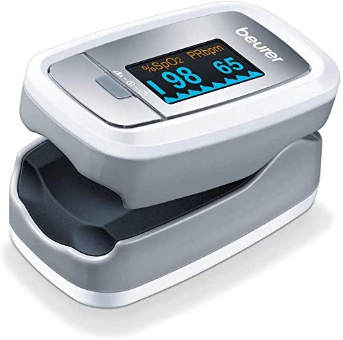 Beurer PO 30 Pulsoximeter (Grau / Weiß, Ermittlung der Herzfrequenz und arteriellen...