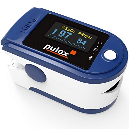 Pulsoximeter Pulox PO-200 Set zur Messung von Puls und Sauerstoffsättigung am Finger inkl....