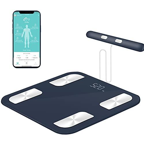 Körperfettwaage, Bluetooth Personenwaage mit 8 Elektroden, Smart Digitale Waage mit APP und...