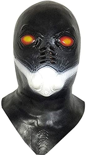 FFF8 Halloween Requisiten Alien Gas Mask Hood, geformte Sauerstoffmaske Horror Latex Tiara Halloween...