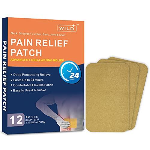 WILD+ Schmerzlinderung Patch, Wärmepflaster Rücken Schmerzpflaster Fördern die Durchblutung,...