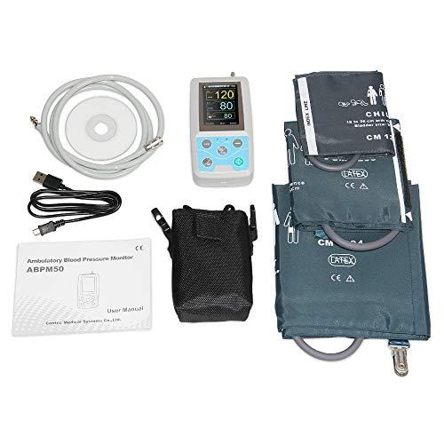 TQ Ambulantes 24-Stunden-Blutdruckmessgerät Holter Abpm50 + 3-teilige Manschetten, PC-Software,...