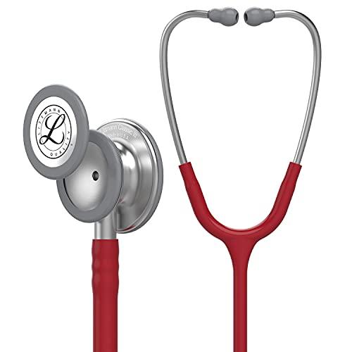3M Littmann Classic III Stethoskop zur Überwachung, burgunderroter Schlauch, 69cm, 5627