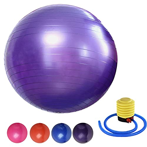 Gymnastikball Groß 65cm Anti-Burst Fitnessball Superleichter Soft, Gymnastikball Stuhl Büro...