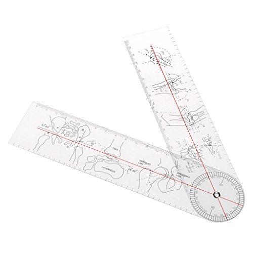 Longsw Goniometer medizinisches Winkel, Lineal, orthopädisch, Werkzeug aus Kunststoff