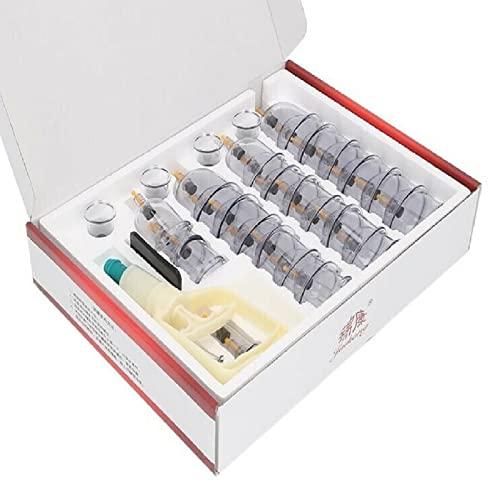 Mutiwill 32Tlg Schröpfglas Schröpfgläser mit Vakuumpumpe Schröpfen mit Therapiemagneten für...