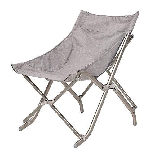 HLR Deckchairs Campingstuhl Klappsessel Aluminium Ultraleicht Tragbar Anglerstuhl Hochlehner...