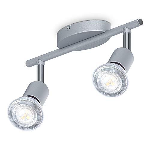 B.K.Licht I 2-flammiger LED Deckenspot I 2x 5W Leuchtmittel GU10 I 2x 400lm I dreh- schwenkbar I...