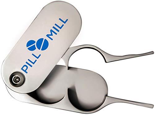 Tablettenteiler von Pill Mill - Metallklingen, die nie stumpf werden - Griff hilft, kleine oder...
