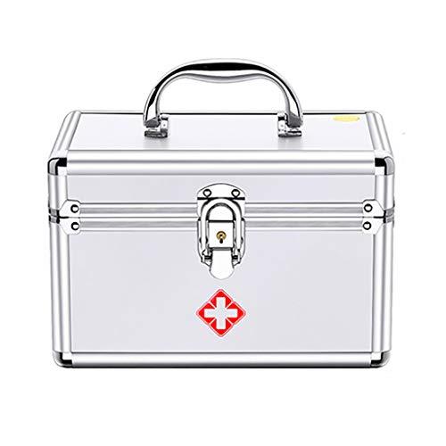 Erste-Hilfe-Set Abschließbare Erste-Hilfe-Box Sicherheitsschloss Medizin-Aufbewahrungsbox Mit...
