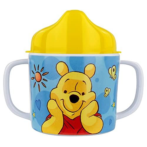 P:os 68939 - Trinklernbecher mit Disney Winnie the Pooh Motiv, Schnabeltasse für Kinder mit 2...
