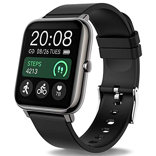 Popglory Smartwatch, Fitness Tracker mit Blutdruckmessung Fitness Armbanduhr mit Pulsuhr...