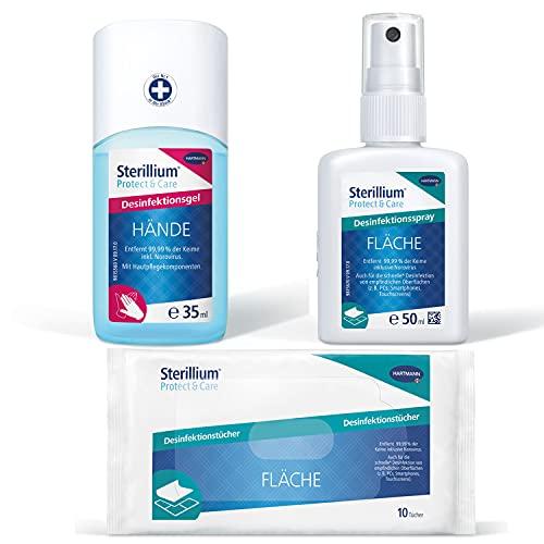 Sterillium Desinfektionsmittel Set, klein: Desinfektionsgel (35 ml), Desinfektionstücher (10er...