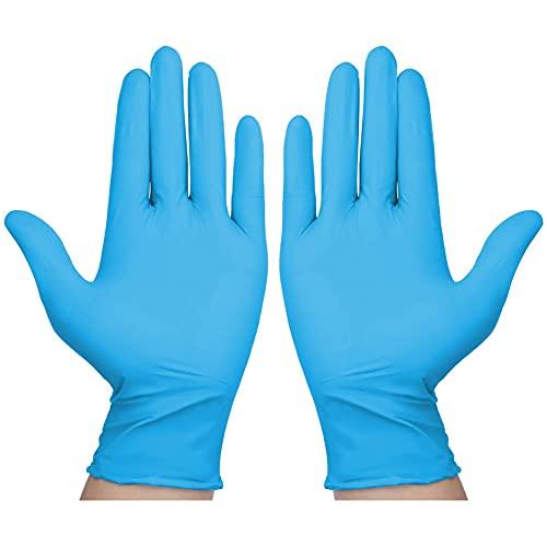 Taosheng 100 Stück Einweghandschuhe Blau Einweghandschuhe Ohne Latexpulver Einweg Arbeitshandschuhe...