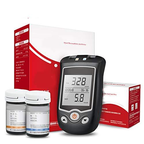 WSN Blutzucker- und Harnsäuremessgerät 2 in 1 Multifunktionssystem Blutzuckerüberwachung...
