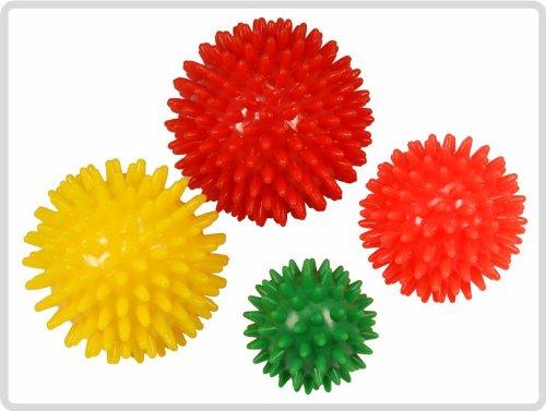 Igelball Igel-Ball Noppenball Massageball 4er-Set (rot, gelb,orange, grün) *Top-Qualität zum...