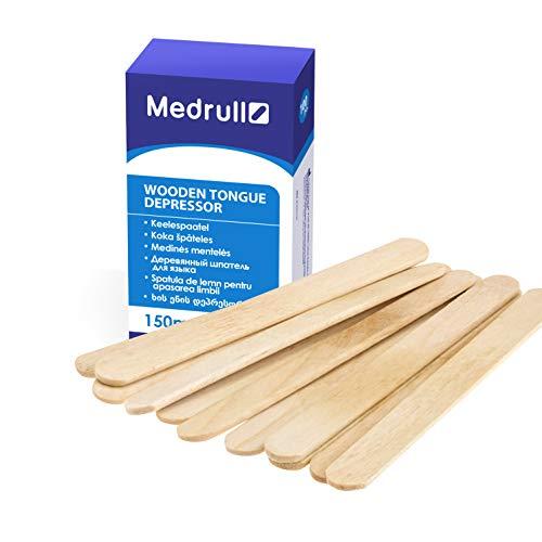 Medrull Holzmundspatel 100 Stück, Holzspatel Waxing 1.8cm x 15cm, unsteril zur äußeren...