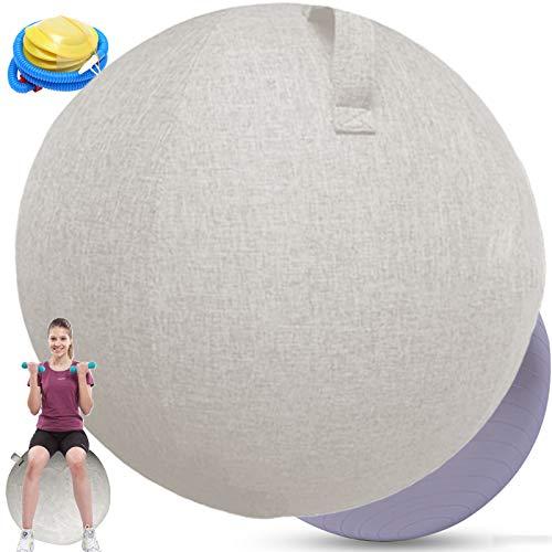 Gymnastikball 65cm Sitzball BüRo Ergonomisch Sitzball StoffKlein füR Balance BallYoga Pilates...
