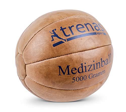 Original TRENAS Medizinball aus Leder - 5 KG