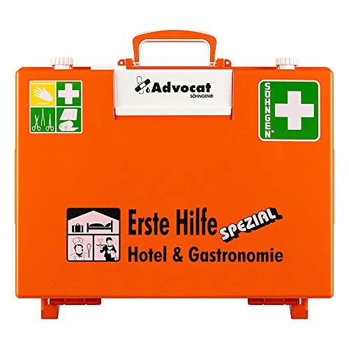 SÖHNGEN Erste-Hilfe-Koffer Advocat Hotel/Gastronomie, Wandhalterung, orange, DIN 13157