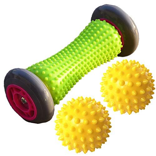 YANZHU Fußreflexzonenmassage, 3-teilig, Fußrollen, Plantarfasziitis-Massagerollen (1 Fußroller +...