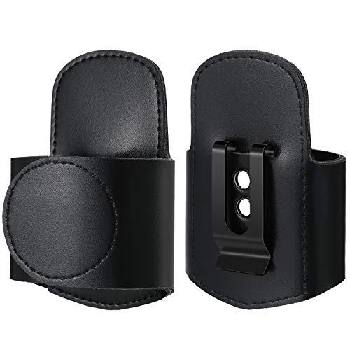 Schwarz Kunstleder Stethoskop Halter Handgefertigter Stethoskop Hüfthalter mit Clip zum Schutz vor...