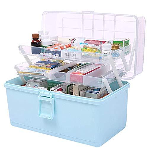 Hausapotheke Box, Groß Hausapotheke Schrank, Kunststoff 3 Ebene Medizinkoffer Erste Hilfe Koffer,...