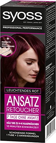 Syoss Ansatz Retoucher Haarfarbe, 7 Tage ohne Ansatz Leuchtendes Rot, 3er Pack (3 x 85 ml)