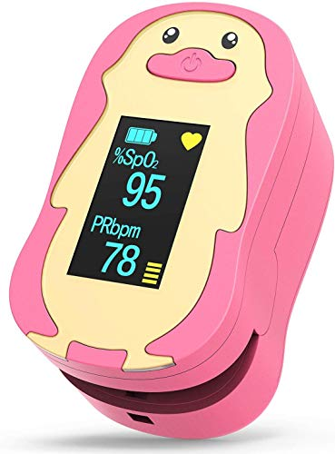 HOMIEE Pulsoximeter Kinder, Präzise Fingeroximeter Sauerstoffsättigung Messgerät, Oximeter SpO2 &...