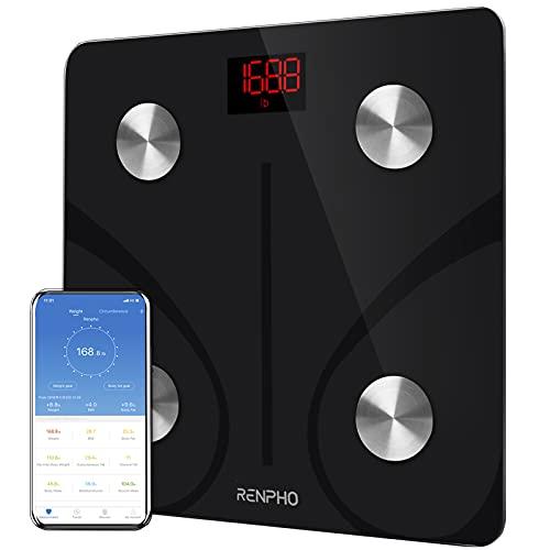 RENPHO Körperfettwaage Digital Personenwaagen Bluetooth Körperanalysewaage mit App Smart Waage...
