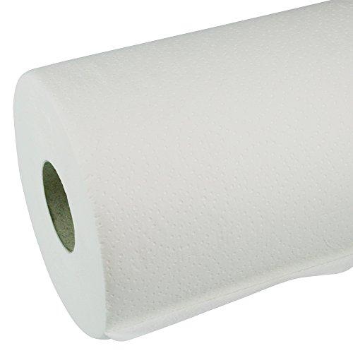 Liegenabdeckung 59 cm Ärzterollen weiß, 2-lagig, Punkt-zu-Punkt-Prägung