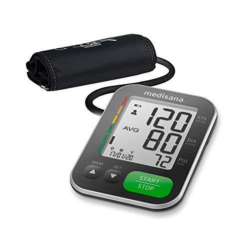 Medisana BU 565 Oberarm-Blutdruckmessgerät, Arrhythmie-Anzeige, WHO-Ampel-Farbskala, IHB-Funktion,...