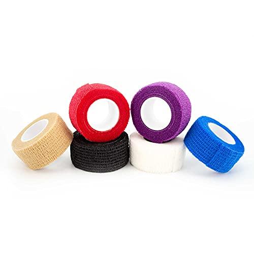 12x Selbstklebender Verband - Selbsthaftende Bandage - Pflaster Rolle - Fingerpflaster - Haftbandage...