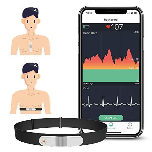 Wellue VisualBeat Brustgurt/Riemenfrei Herzfrequenzmesser, ANT +, Bluetooth ,...