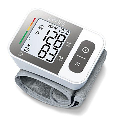 Sanitas SBC 15 Handgelenk-Blutdruckmessgerät, vollautomatische Blutdruck- und Pulsmessung,...