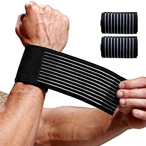 Delaspe Handgelenkbandage, 2 Handstützen, Heilung von Schmerzen im Handgelenk, für Gewichtheben,...