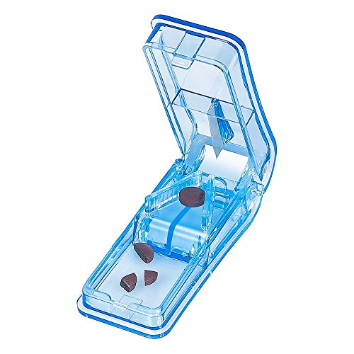 Baoweihua Tablettenteiler für Große und Kleine Tabletten, Tablettenschneider mit Aufbewahrungsfach...