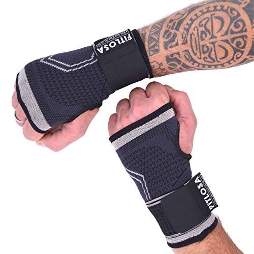 FITLOSA - 2 Set Handgelenk Bandagen Fitness - handbandage Sport - Schutzschiene - Verstellbar mit...