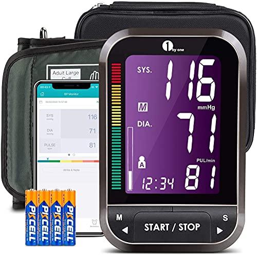 1byone Blutdruckmessgerät Bluetooth, Blutdruckmessgerät Oberarm Bluetooth Wireless Digital,...