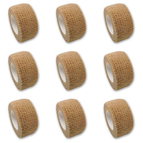9er-Set Fingerverband | Pflasterverband | Pflaster ohne Kleber - in BEIGE - 2,5cm x 4,5m -...