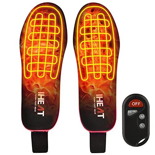 iHEAT Beheizbare Einlegesohlen,beheizbare Thermosohle mit Intelligentem Drahtlose Fernbedienung, USB...